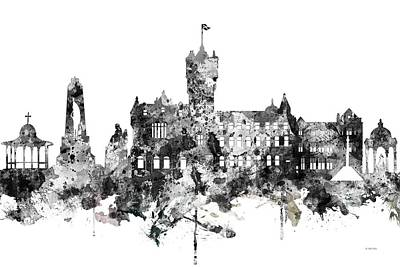 Digital Art - Rutherglen Scotland Skyline by Marlene Watson