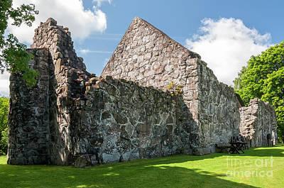 Photograph - Rya Church Ruin by Antony McAulay