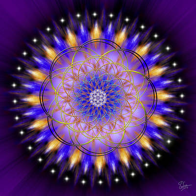 Digital Art - Sacred Geometry 453 by Endre Balogh