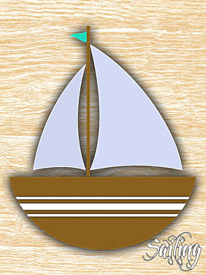 Mixed Media - Sailing Collection by Marvin Blaine