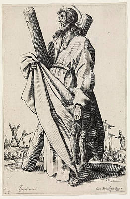 Drawing - Saint Andrew by Jacques Callot