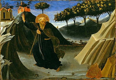 Painting - Saint Anthony Abbot Shunning The Mass Of Gold by Fra Angelico