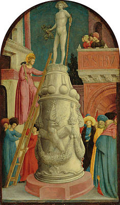 Painting - Saint Apollonia Destroys A Pagan Idol by Giovanni D'Alemagna