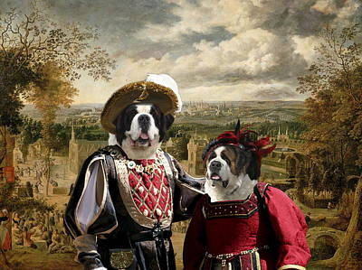 Painting - Saint Bernard Art Canvas Print by Sandra Sij