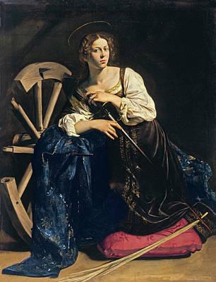 Saint Michael Painting - Saint Catherine Of Alexandria by Caravaggio