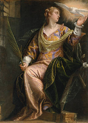 Saint Catherine Painting - Saint Catherine Of Alexandria In Prison by Paolo Veronese