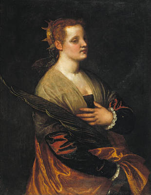 Christian Painting - Saint Catherine by Paolo Veronese