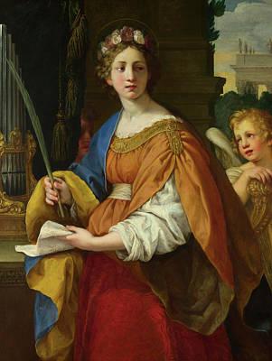 Saint Cecilia Painting - Saint Cecilia by Pietro da Cortona