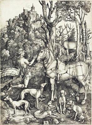 Drawing - Saint Eustace by Albrecht Durer