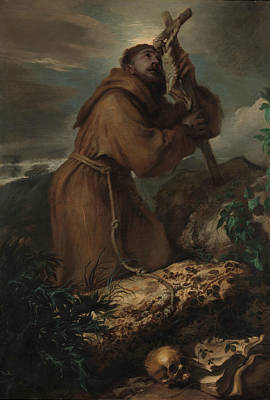 Painting - Saint Francis In Ecstasy by Giovanni Benedetto Castiglione