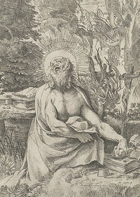 Relief - Saint Jerome In The Wilderness by Annibale Carracci