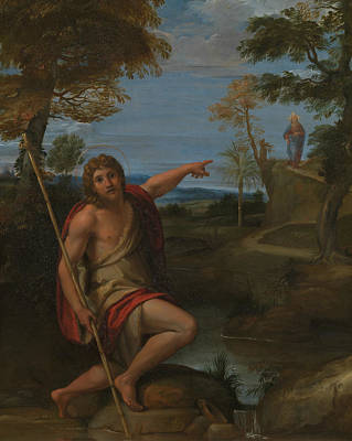 Painting - Saint John The Baptist Bearing Witness by Annibale Carracci