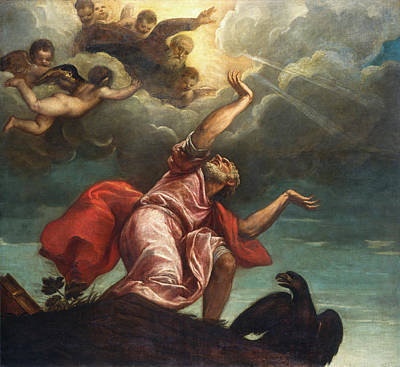 Baptism Painting - Saint John The Evangelist On Patmos by Titian