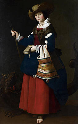 Painting - Saint Margaret Of Antioch by Francisco de Zurbaran