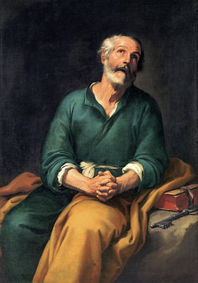 Peter Painting - Saint Peter In Tears by Bartolome Esteban Murillo