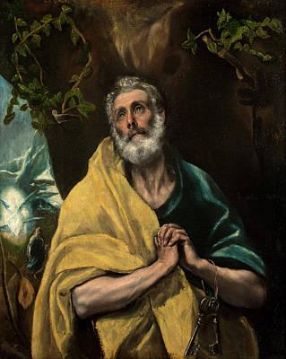 Saint Painting - Saint Peter In Tears by El Greco