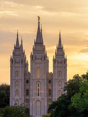 Photograph - Salt Lake Temple  by Dustin  LeFevre