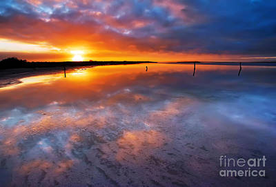 Salt Pan Sunrise Art Print