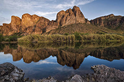 Photograph - Salt River Reflections by Dave Dilli