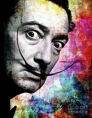 Digital Painting - Salvador Dali by Mark Ashkenazi