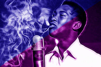 Sam Cooke Collection Art Print by Marvin Blaine
