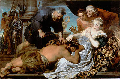 Secretly Painting - Samson And Delilah by Anthony van Dyck