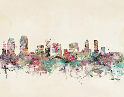 Colourfull Painting - San Diego California by Bleu Bri