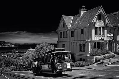 Alcatraz Photograph - San Francisco Cable Car by Mountain Dreams