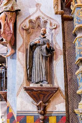 San Xavier Del Bac Mission - Interior Statue - Tucson Arizona Art Print