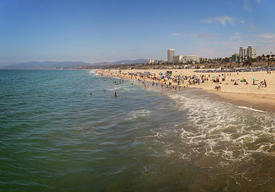 Photograph - Santa Monica Beach by Ricky Barnard