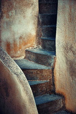 Photograph - Santorini Island Stairs by Songquan Deng