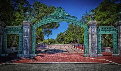 Cal Berkeley Photograph - Sather Gate - Cal Berkeley by Mountain Dreams