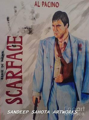 Intezaar Painting - Scarface by Sandeep Kumar Sahota