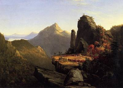 Foot Hills Painting - Scene From The Last Of The Mohicans by Thomas Cole