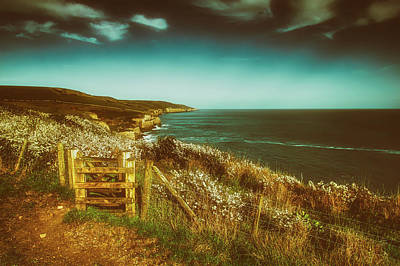 Photograph - Scenic English Coastline by Roman Grac
