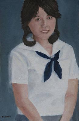 Painting - Schoolgirl by Masami Iida