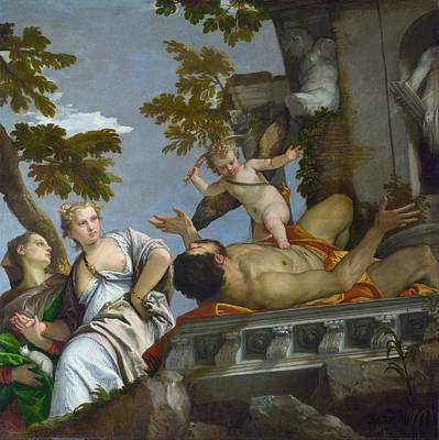 Historic Painting - Scorn by Paolo Veronese
