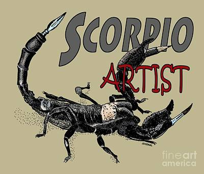 Drawing - Scorpio Artist by Joseph Juvenal