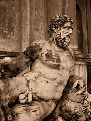 Sculpture Vatican Museum Rome Italy Art Print by Wayne Higgs