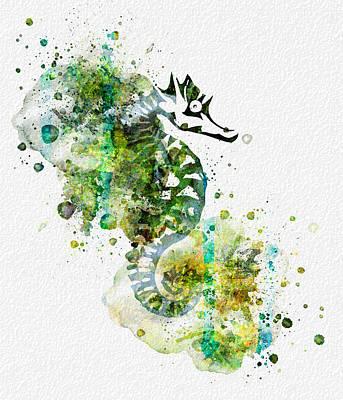 Sea Horse Print by JW Digital Art