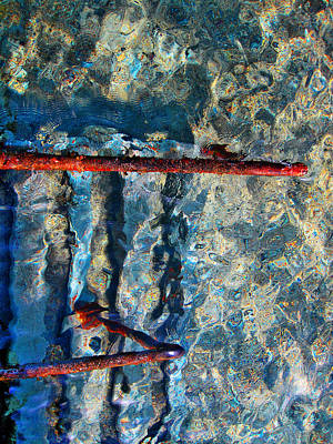 Sea. Rusty Iron And Shock Wave. Original