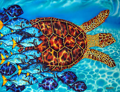 Sea Turtles Painting - Sea  Turtle by Daniel Jean-Baptiste