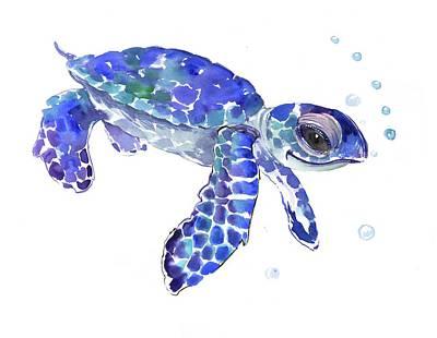 Animal Lover Drawing - Sea Turtle by Suren Nersisyan