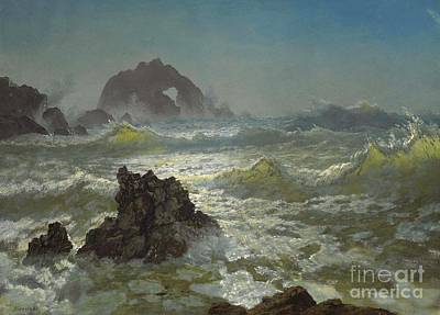 Storm Painting - Seal Rock California by Celestial Images