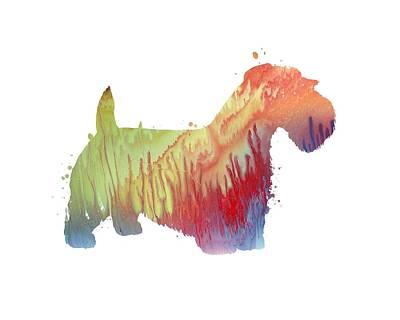 Sealyham Painting - Sealyham Terrier  by Steph J Marten