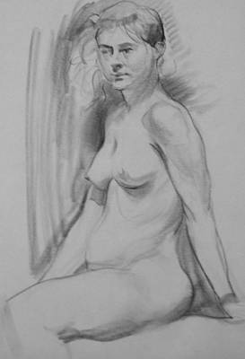 Drawing - A Relaxed Pose by Robert Holden