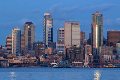 Print featuring the photograph Seattle by Evgeny Vasenev
