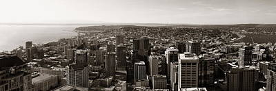 Photograph - Seattle Rooftop View by Songquan Deng