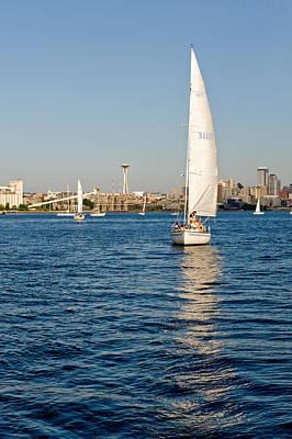 Seattle Sailing Art Print by Tom Dowd