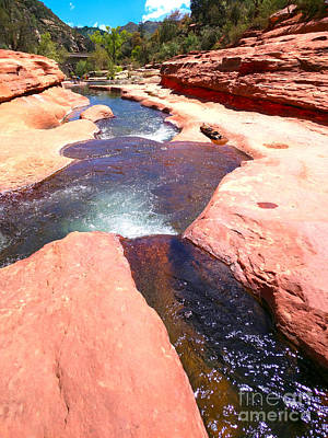 Photograph - Sedona Slide Rock River by Haleh Mahbod